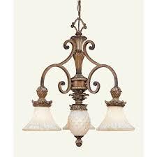 livex lighting savannah three light venetian patina chandelier