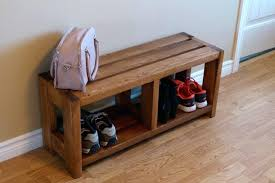 Boot Bench With Coat Rack Interesting Rustic Entryway Storage Bench Rustic Shoe Bench Storage Organizer