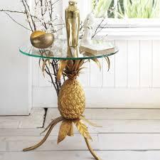 Pineapple Bedroom Furniture Golden Pineapple Table Graham Green Gold Metallic Homedecor