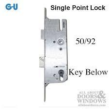 door lock and key black and white. G-U Monolock 50/92 Single Door Lock, Key BELOW - Stainless Steel Lock And Black White E