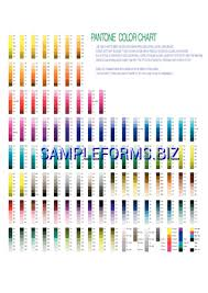 Pantone Color Chart Pdf Free 1 Pages
