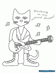 Pete The Cat Buttons Coloring Page Free Printable Coloring Pages