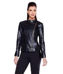 iman luxe leather lasercut jacket