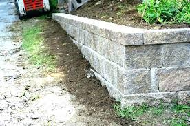 block retaining wall cost s concrete estimate cinder per square foot