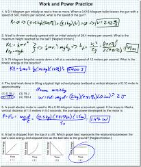 work and power practice ws solutions regents physics image