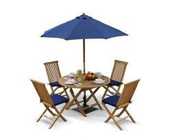suffolk 4 seater folding dining set