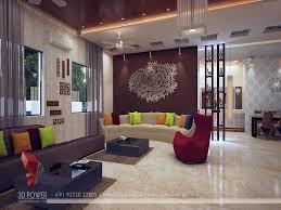 high class 3d living room interior designing ...