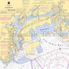 California Nautical Charts California Los Angeles San Pedro Bay San Pedro Nautical Chart Decor