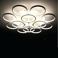 contemporary ceiling lights circle rings designer lamp lighting led bedroom light er pendant uk