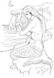 Small Picture Printable Mermaid Coloring Pages For Adults Coloring Coloring Pages