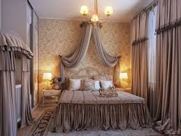 ... victorian bedroom concept with romantic decor also gray ruffled bedding  ...