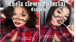 chola clown makeup tutorial