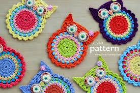 Crochet Owl Blanket Pattern Free Enchanting Crochet Owl Coasters Pattern No 48 Zoom Yummy Crochet Food