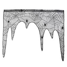 <b>Lace Bat</b> Spider Web Curtains,<b>Halloween</b> Festival Heritage Room ...