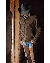 sts ranchwear men s man brown leather jacket hi res