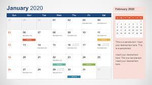 November 2020 Calendar Clip Art 2020 Calendar Powerpoint Template