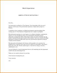 Resume Letter Of Motivation English English Motivation Letter Model