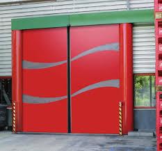 sliding industrial door stainless steel acoustic for the food industry novosprint