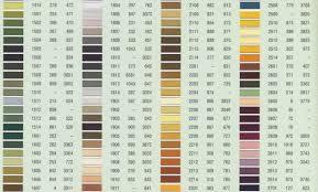77 Thorough Anchor Cross Stitch Threads Colour Chart
