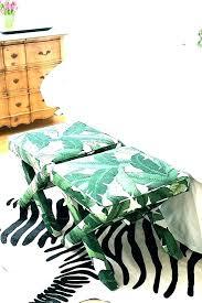 palm leaf duvet cover banana leaf bedding palm comforter bedroom print x bench at foot of
