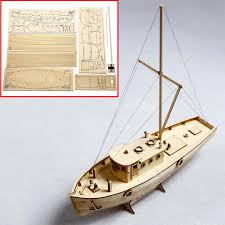 diy wooden sailing boat ship model kit assembly home decor educational toy gift 2 2 of 12