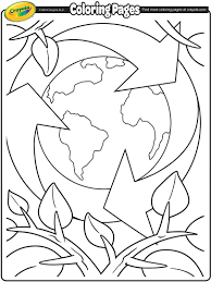 Earth Day Recycling Coloring Page | crayola.com