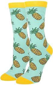 Women's Novelty Crazy Pineapple Crew Socks Funny ... - Amazon.com