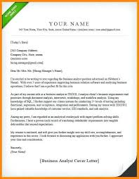Cover Letter For Data Analyst Financial Analyst Cover Letter No