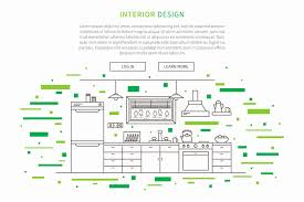 kitchen furniture plans. Creative Concepts House Plans Lovely Line Graphic Design Kitchen Furniture  Stock Vector Illustration Kitchen Furniture Plans