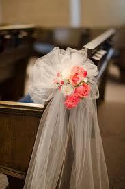 Best 25 Tulle Pew Bows Ideas On Pinterest Church Pew Wedding