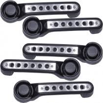drake off road door handle inserts with holes brushed aluminum finish set of