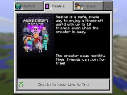 minecraft realms for ios android