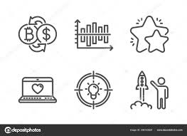 Bitcoin Exchange Star Idea Icons Simple Set Web Love Diagram