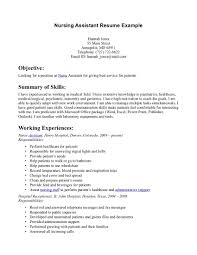 Nurse Aide Job Description For Resume Resume For Study