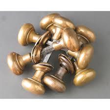 image of antique brass door knobs small