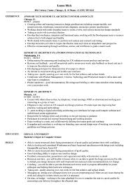 Senior Architect Resume Senior UX Architect Resume Samples Velvet Jobs 7