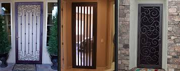 magnificent metal security screen door and las vegas security doors window guards wrought iron security bars