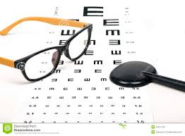Reading Health Chart Optometrist Chart And Glasses Stock Photo Image Of Reading