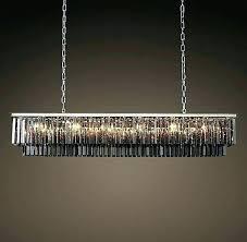 restoration hardware chandelier. Glass Rectangular Chandelier Restoration Hardware Full Image For Smoke Fringe