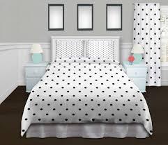 polkadots white black duvet