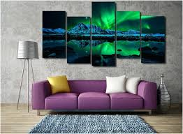 wall art 5 piece set northern lights aurora 5 piece canvas wall art print limited edition on mirror wall art 5 piece set with wall art 5 piece set northern lights aurora 5 piece canvas wall art