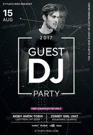 Guest Dj Party Psd Flyer Template