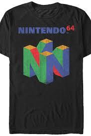 N64 Logo Nintendo T-Shirt: Nintendo Mens T-Shirt