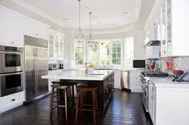 white kitchen dark wood floor. Best Flooring For Kitchen With White Cabinets Dark Wood Floor N