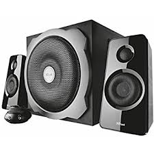 speakers subwoofer. trust tytan 2.1 pc speaker system with subwoofer for computer and laptop, 120 w, speakers