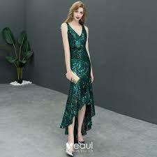 <b>Sexy Dark Green</b> Sequins Evening Dresses <b>2019</b> Trumpet ...