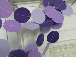 Lavender Baby Shower Decorations Purple Baby Shower Decorations 10 Foot Paper Garland Purple