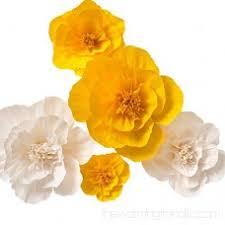 Paper Flower Archway Paper Flower Decorations Giant Paper Flowers Yellow White