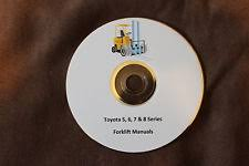 toyota forklift manual toyota electric gas and diesel forklift service and part manual 5 6 7 8