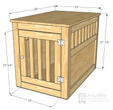awesome ana white large wood pet kennel end table diy projects dog kennel end table ideas